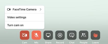 BOR - cam settings