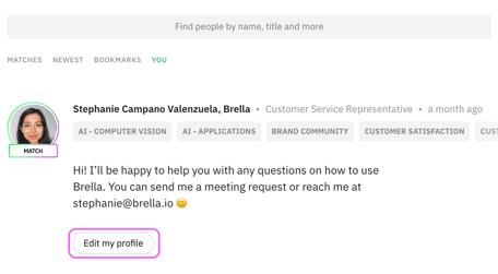 Brella - my profile