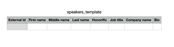 CSV - speakers template