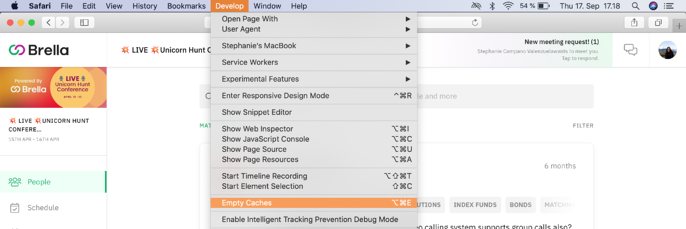 How to clear cache in Safari 3