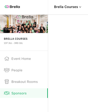 web app sponsors page
