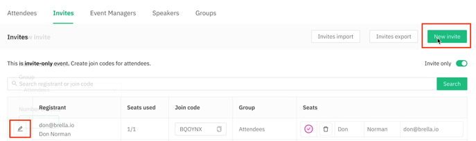 creating a new group with invites