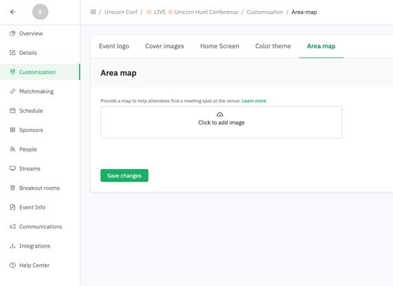customization area map