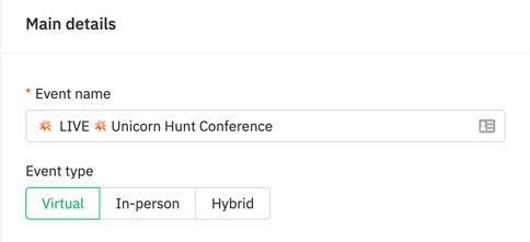 event type