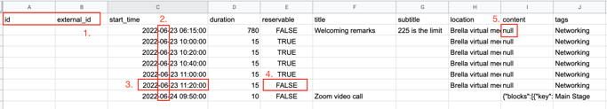frequent errors when importing your csv file to brella